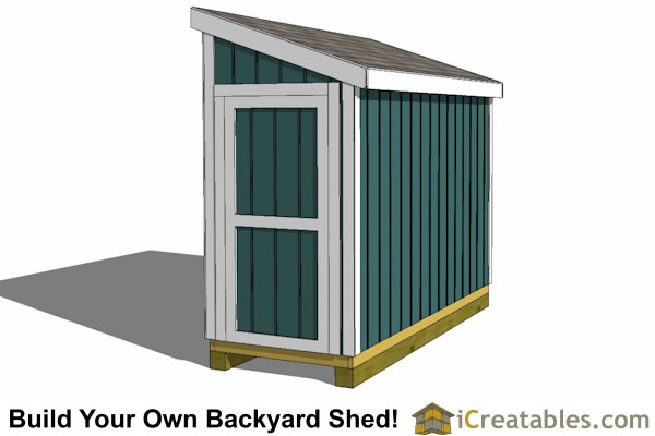 4x10 lean to shed plans end door