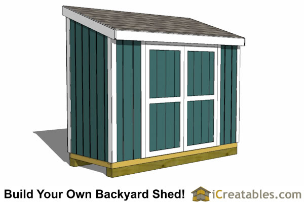 4x10 Lean-to Shed Plans - Outdoor Garden Shed - Small Shed Plans