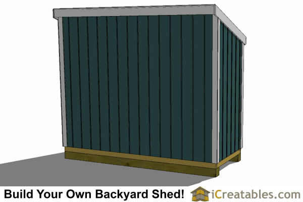 4x10 lean to shed plans rear elevation
