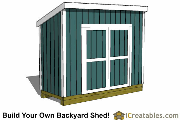 4x10 lean to shed plans tall door