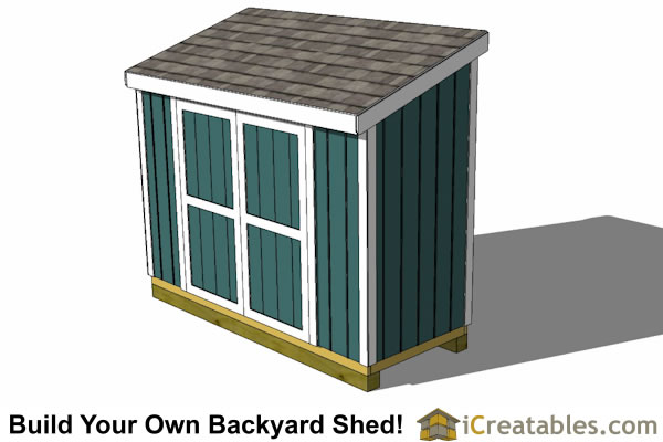 4x10 lean to shed plans top