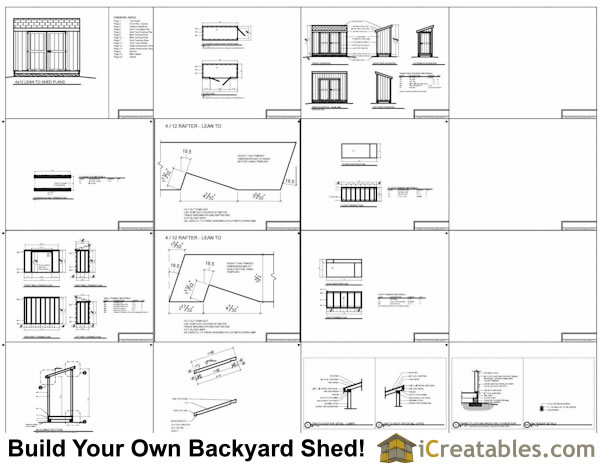 4x10 lean to shed plans example
