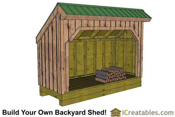 Firewood shed plans diy wood bins easy to build wood for Wood shed plans