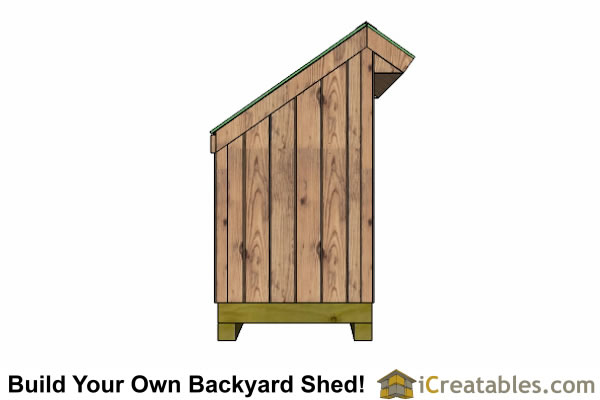 4x10 firewood shed left side