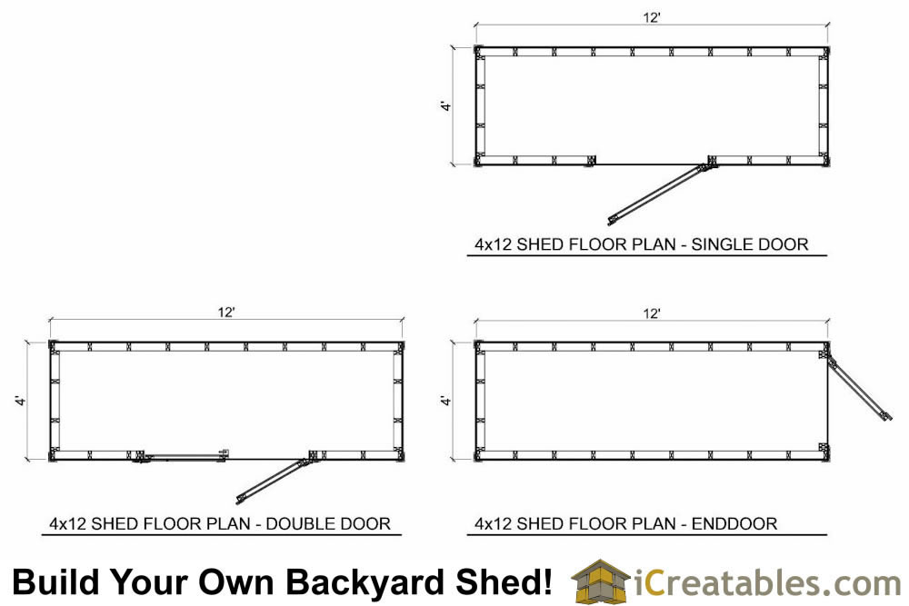 4x12 shed plan floor plan