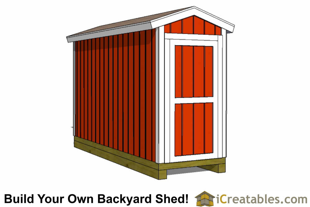 4x12 backyard shed plans side door