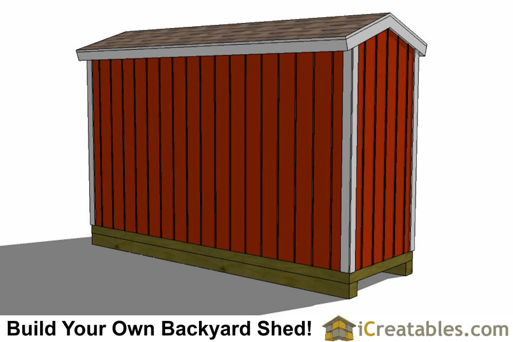 4x12 backyard shed plans top