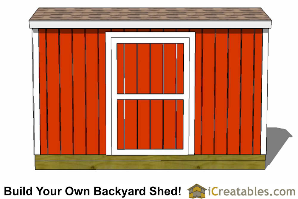 4x12 backyard shed plans right rear