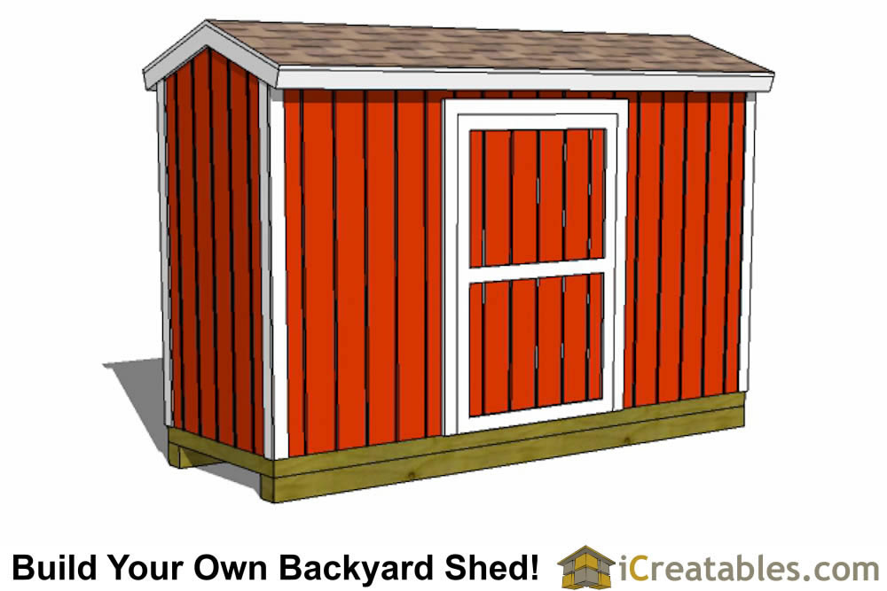 8x12 shed plans elevation