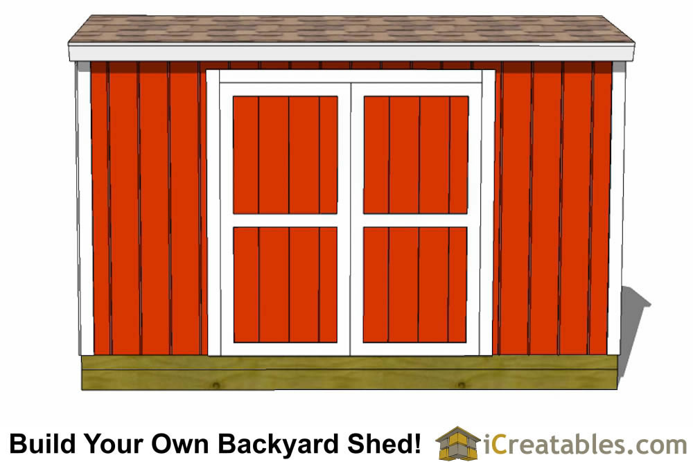 4x12 backyard shed plans left rear