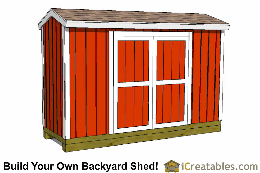 4x8 backyard shed plans