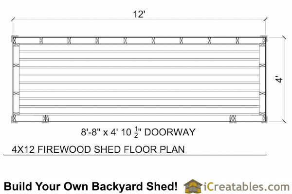 4x10 firewood shed plans floor plan