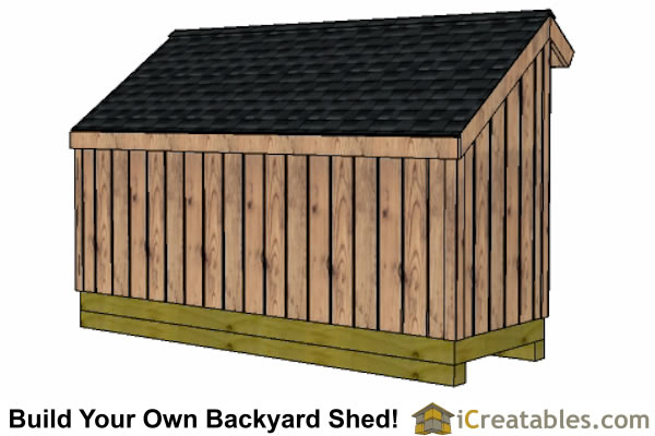 4x12 firewood shed right rear