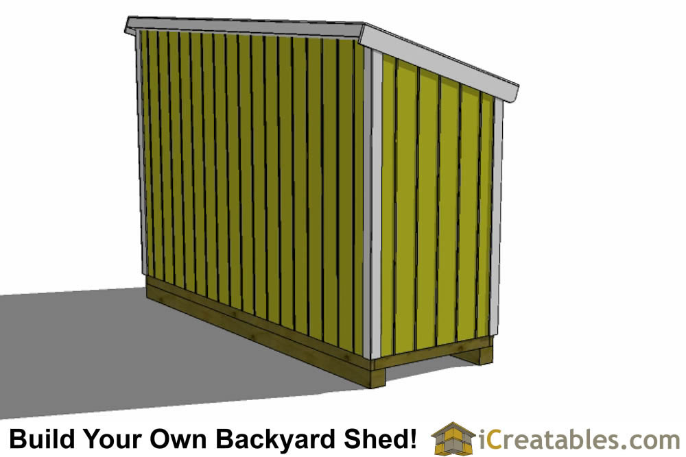 4x12 lean to shed plans left side