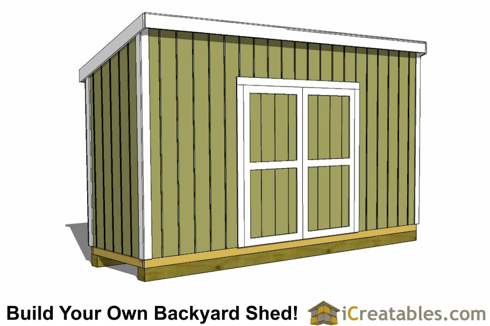 4x12 Lean-to Shed - Outdoor Shed Plans - Small Shed Plans