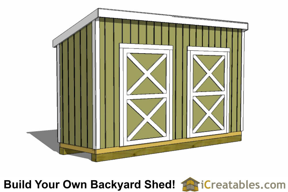 4x14 lean to shed plans top