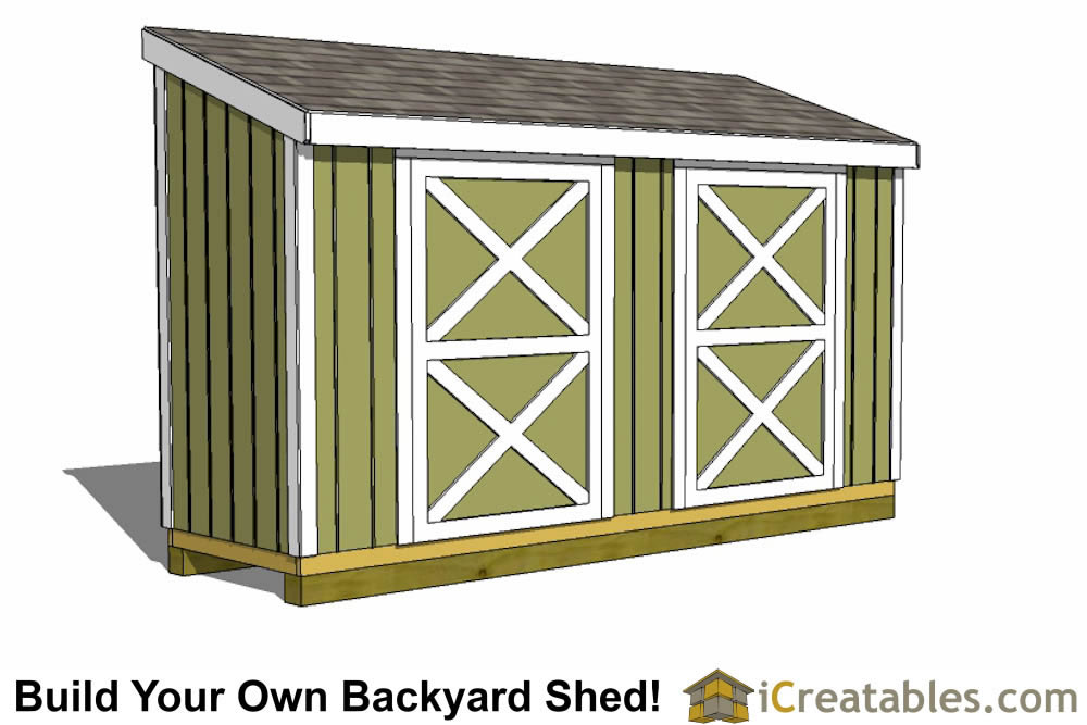 4x14 lean to shed plan
