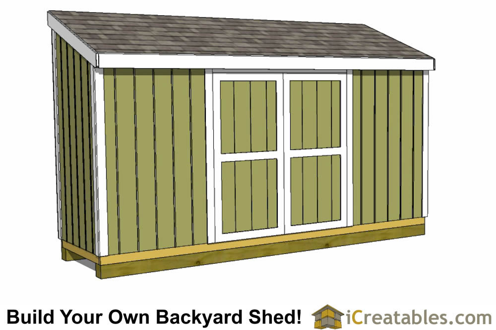 . 4x12 Lean to Shed   Outdoor Shed Plans   Small Shed Plans