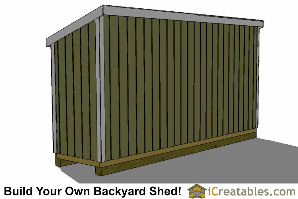 4x8 lean to shed front