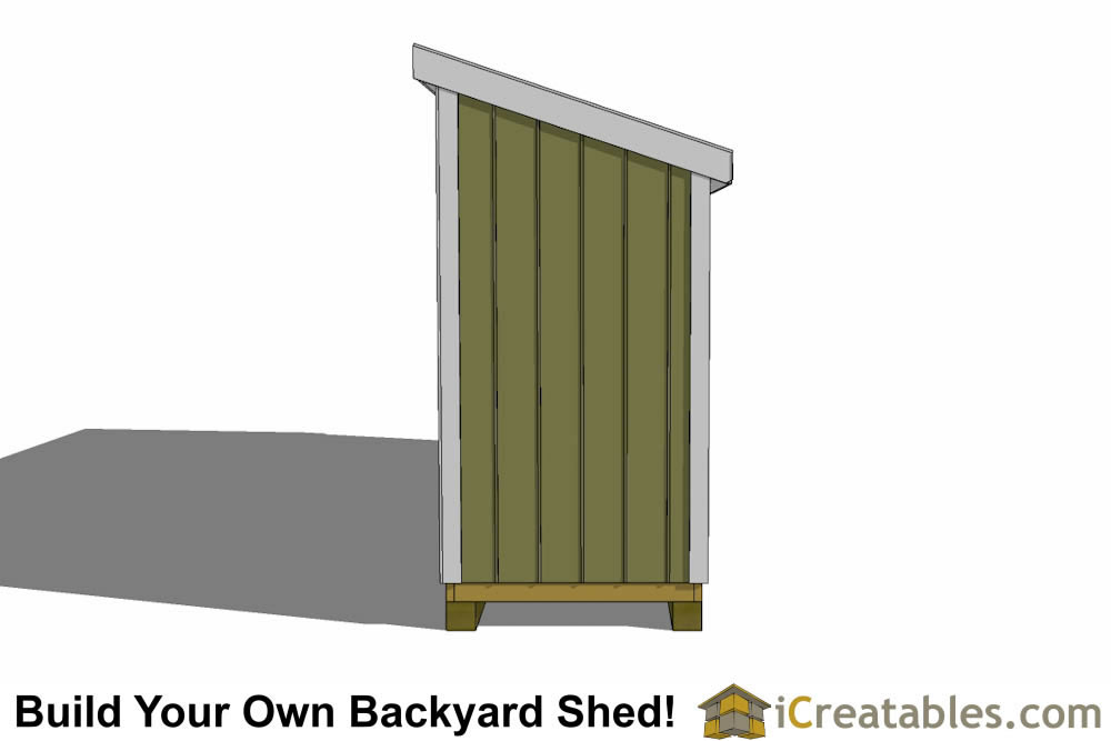 4x20 Lean To Shed Plans 4x20 Storage Shed Plans