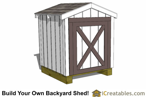 4x4 generator shed plans with gable roof