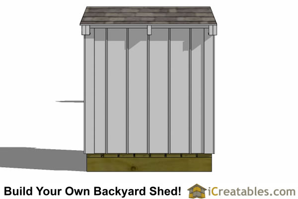4x4 generator shed enclosure left side
