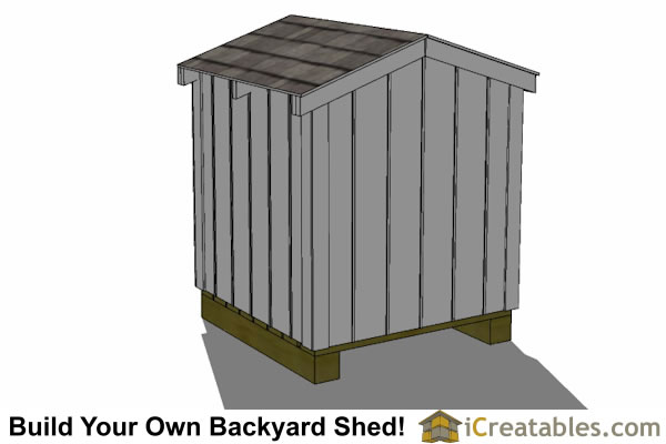 4x4 generator shed enclosure rear