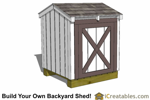 4x4 generator shed enclosure front door