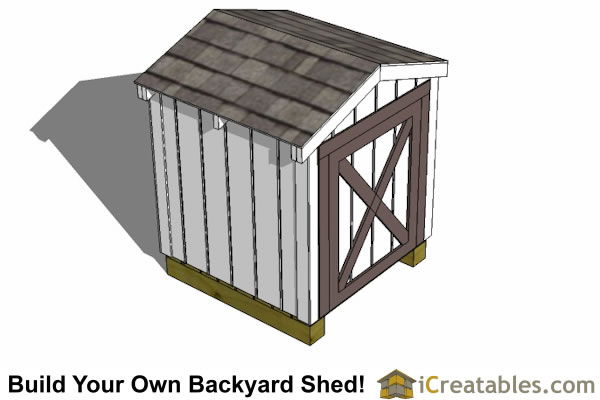 4x4 generator shed enclosure top