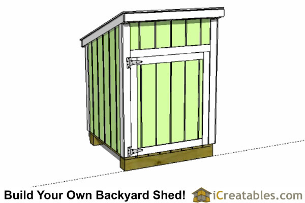 4x4 lean to generator shed tall wall door