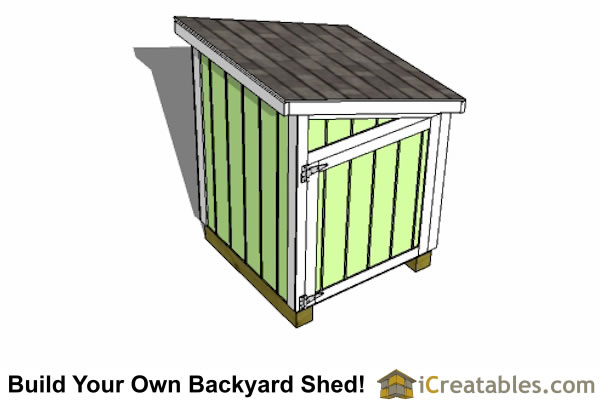 4x4 lean to generator shed top view