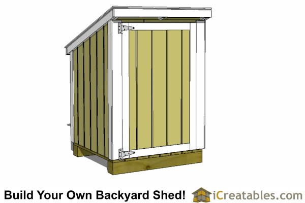 4x4 lean to generator shed