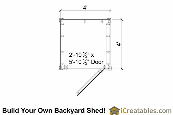 4x4 shed floor plans