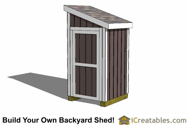 4x4 storage shed plans sinyu for Garden shed 4x4
