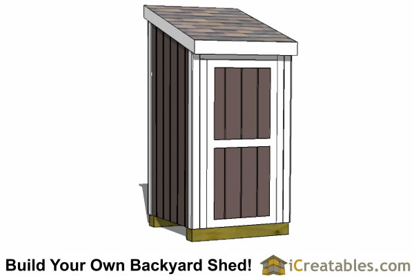 4x4 lean to shed