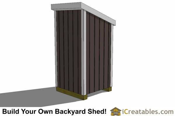 4x4 lean to shed rear