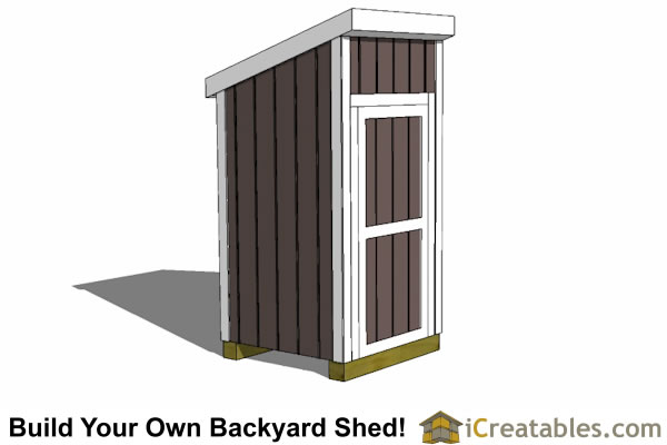4x4 Lean-to Shed - Small Shed Plans - Garden Shed - iCreatables
