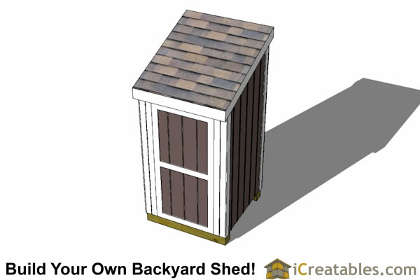 4x4 lean to shed top