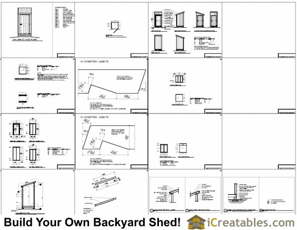 4x4 lean to shed plans