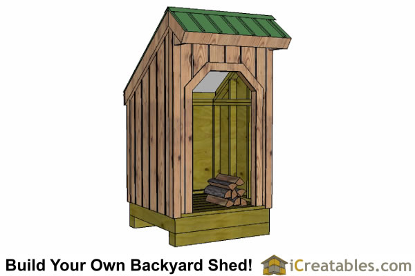 4x4 firewood shed front