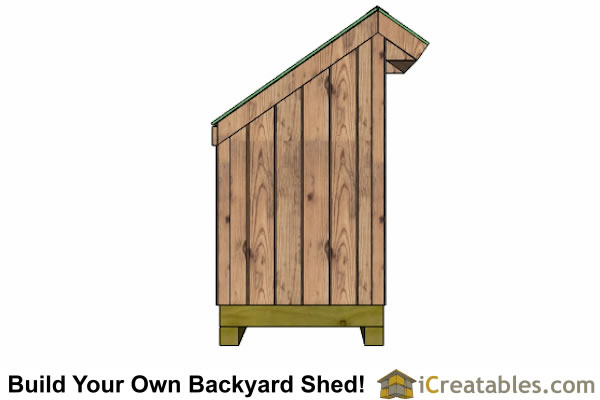 Small firewood storage lean to shed plans outdoor shed for Garden shed 4 x 3