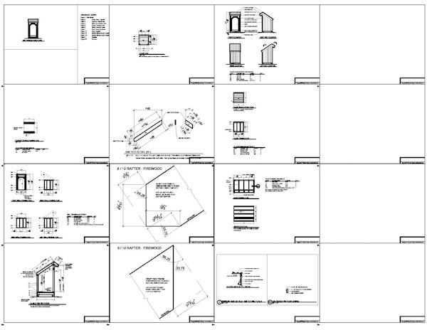 4x4 firewood shed plans example