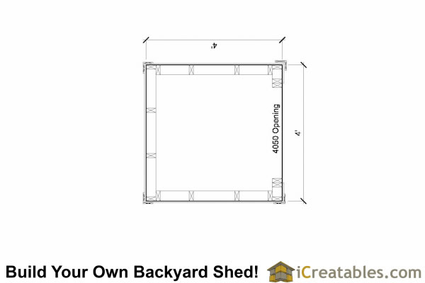 4x4 firewood shed plans floor plan