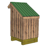 4x4 firewood shed rear