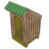 4x4 firewood shed partition
