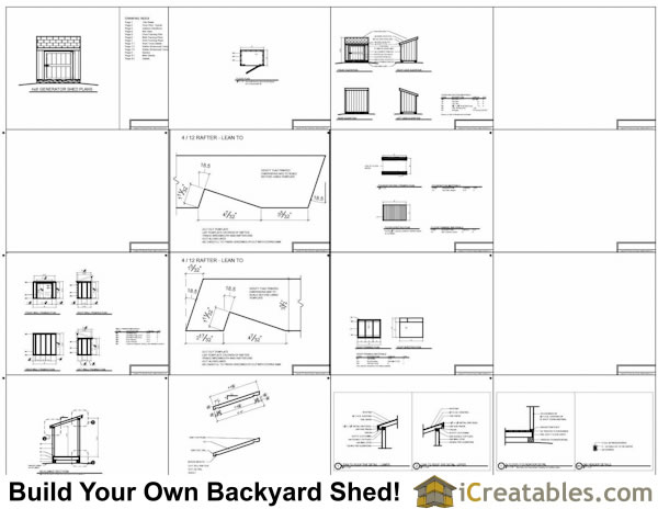 4x6 Generator Shed Plans Example