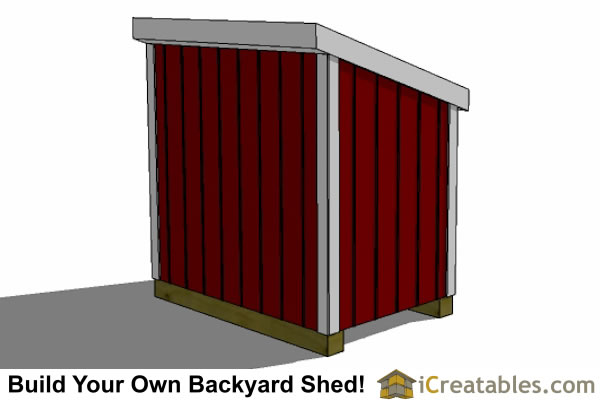 4x6 Generator Shed Top