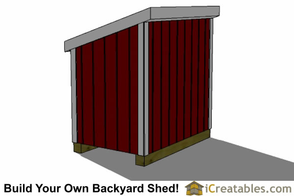 4x6 Generator Shed Right Rear