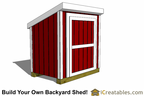 4x6 generator shed with door on tall wall