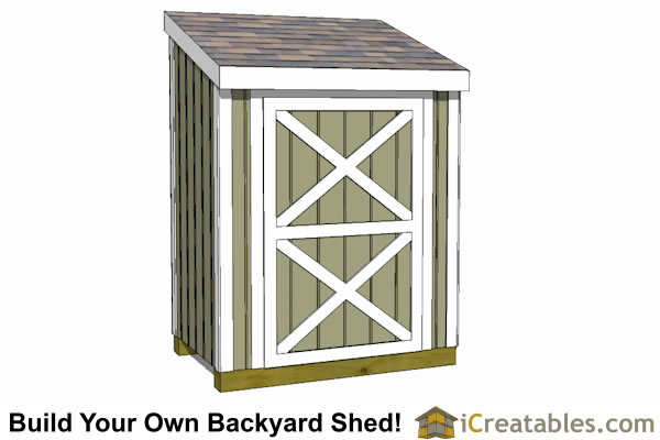 4x6 Lean To Shed Plans Front